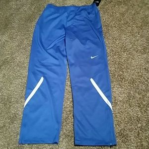 Blue Nike training pants
